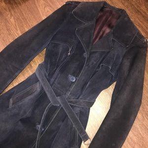 Jackets & Blazers - Vintage suede trench coat